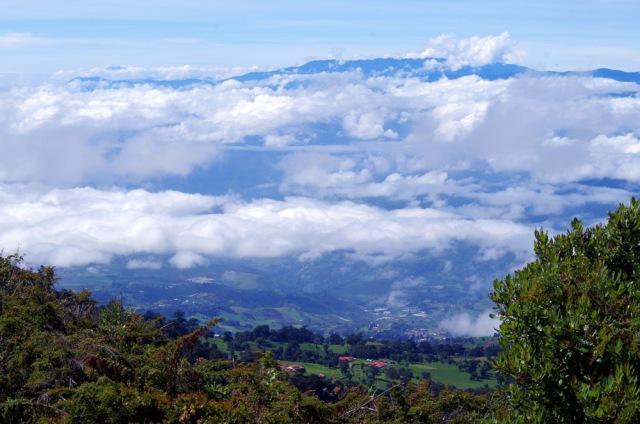 Blick vom Irazu 3432 m